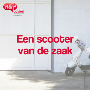 scooter van de zaak